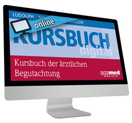 Abbildung von Kursbuch der ärztlichen Begutachtung • Online   1. Auflage     beck-shop.de