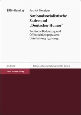Abbildung von Merziger | Nationalsozialistische Satire und