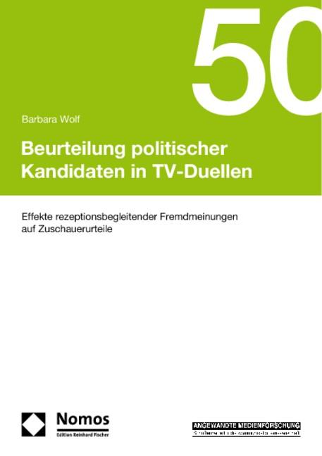 Beurteilung politischer Kandidaten in TV-Duellen | Wolf | Buch (Cover)