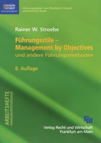 Führungsstile - Management by Objectives | Stroebe | 8. Auflage, 2007 | Buch (Cover)