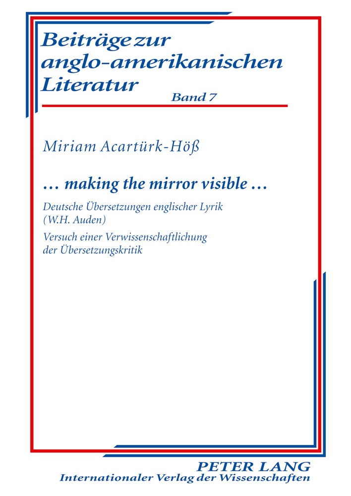 Abbildung von Acartürk-Höß | … making the mirror visible … | 2010