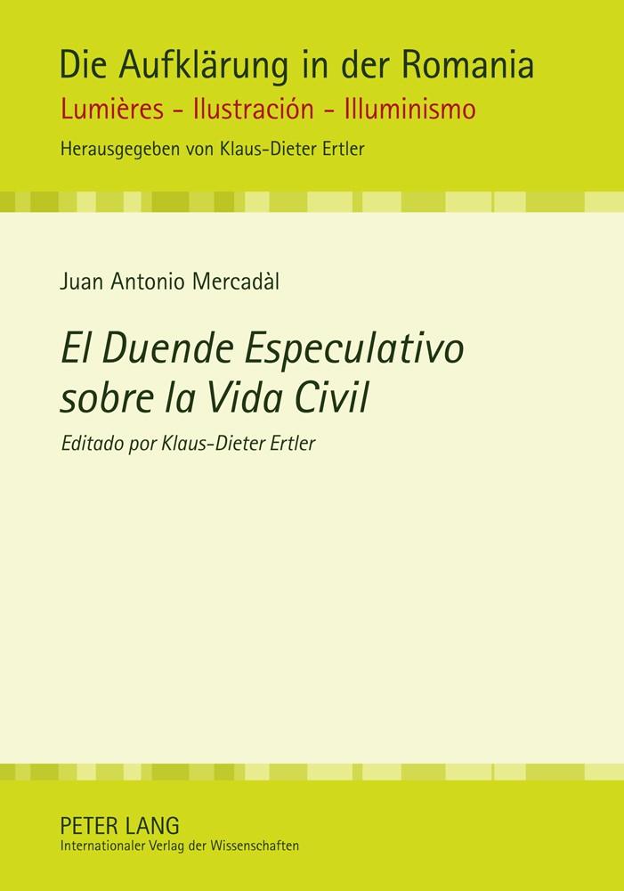 Abbildung von Mercadal | El Duende Especulativo sobre la Vida Civil | 2011