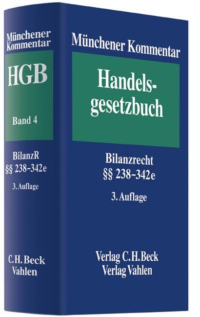 Münchener Kommentar zum Handelsgesetzbuch: HGB, Band 4: Drittes Buch. Handelsbücher § 238-342e HGB | Buch (Cover)