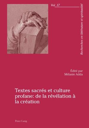 Abbildung von Adda | Textes sacrés et culture profane : de la révélation à la création | 2010