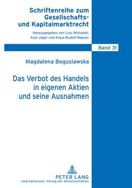 Abbildung von Boguslawska | Das Verbot des Handels in eigenen Aktien und seine Ausnahmen | 2010 | 31