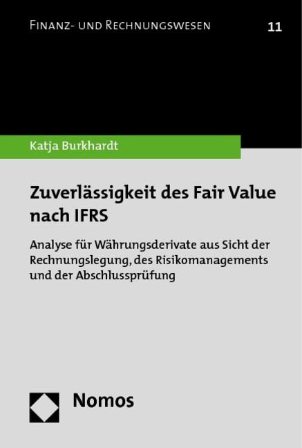 Abbildung von Burkhardt | Zuverlässigkeit des Fair Value nach IFRS | 2010