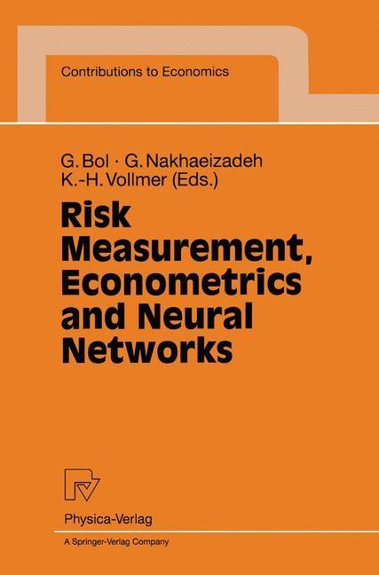 Abbildung von Bol / Nakhaeizadeh / Vollmer | Risk Measurement, Econometrics and Neural Networks | 1998
