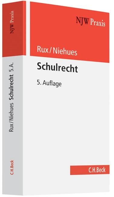 Schulrecht | Rux / Niehues | Buch (Cover)