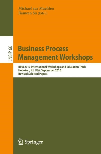 Business Process Management Workshops | Muehlen / Su, 2011 | Buch (Cover)