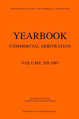 Abbildung von van den Berg | Yearbook Commercial Arbitration Volume XII - 1987 | 1990