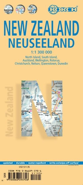 New Zealand / Neuseeland 1 : 1 300 000 + City Maps   Nachdruck, 2018 (Cover)