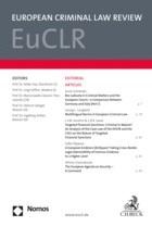 EuCLR • European Criminal Law Review | 8. Jahrgang (Cover)
