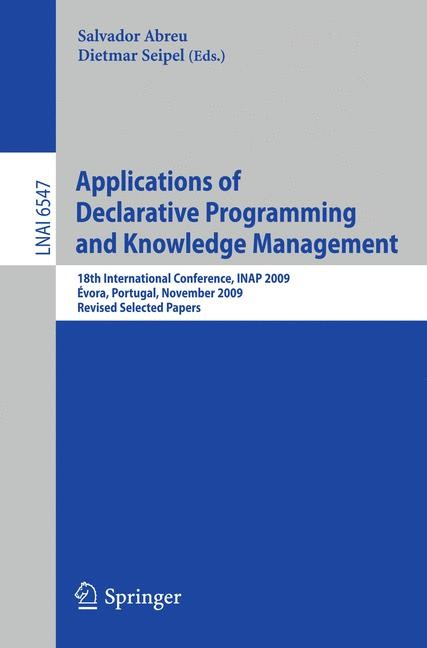 Applications of Declarative Programming and Knowledge Management | Abreu / Seipel, 2011 | Buch (Cover)