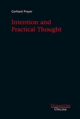 Abbildung von Preyer | Intention and Practical Thought | 2011