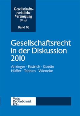 Abbildung von Goette / Hüffer / Tebben | Gesellschaftsrecht in der Diskussion 2010 | 2011 | 16
