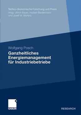 Abbildung von Posch | Ganzheitliches Energiemanagement für Industriebetriebe | 1. Auflage 2011 | 2011