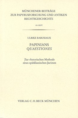 Abbildung von Babusiaux, Ulrike | Münchener Beiträge zur Papyrusforschung Heft 103 | 1. Auflage | 2011 | Heft 103 | beck-shop.de