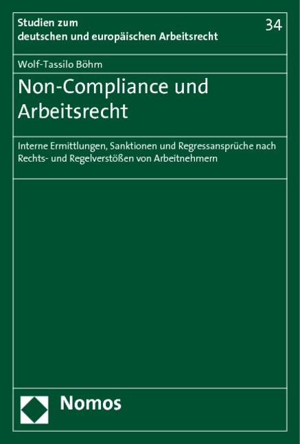 Abbildung von Böhm | Non-Compliance und Arbeitsrecht | 2011