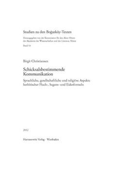 Abbildung von Christiansen   Schicksalsbestimmende Kommunikation   2013   Sprachliche, gesellschaftliche...   52