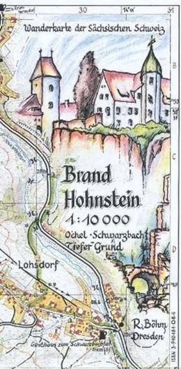 Abbildung von Böhm   Brand Hohnstein 1 : 10 000   3.Auflage   2011   Ochel-Schwarzbach-Tiefer Grund...