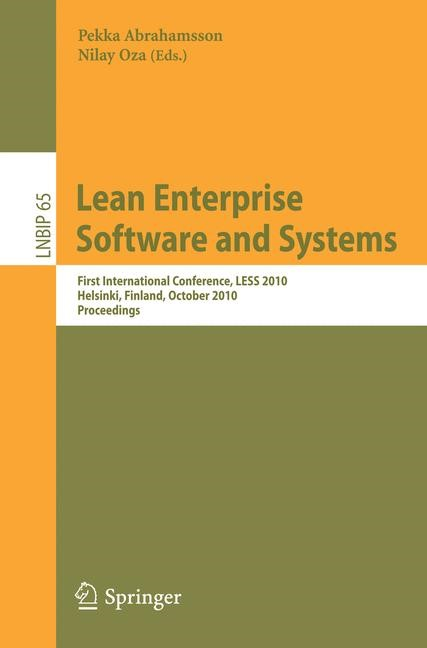 Lean Enterprise Software and Systems | Abrahamsson / Oza, 2010 | Buch (Cover)