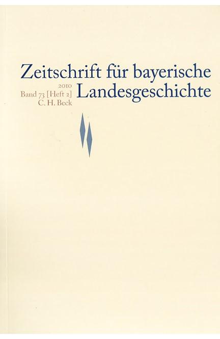 Cover: , Zeitschrift für bayerische Landesgeschichte Band 73 Heft 2/2010