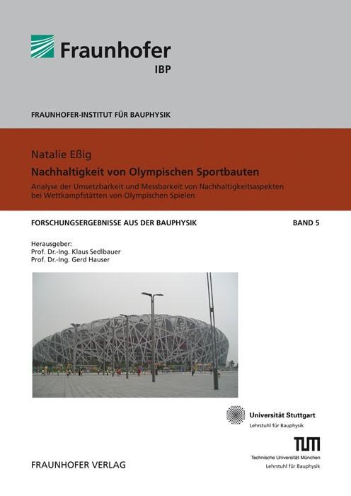 Nachhaltigkeit von Olympischen Sportbauten | / Sedlbauer / Hauser, 2010 | Buch (Cover)