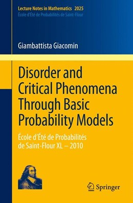 Abbildung von Giacomin   Disorder and Critical Phenomena Through Basic Probability Models   2011