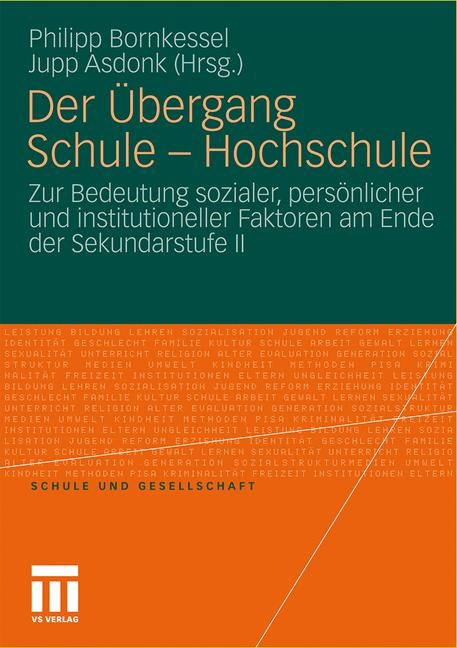 Der Übergang Schule - Hochschule   Bornkessel / Asdonk   2012, 2011   Buch (Cover)