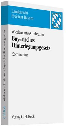 Abbildung von Wiedemann / Armbruster   Bayerisches Hinterlegungsgesetz   2012