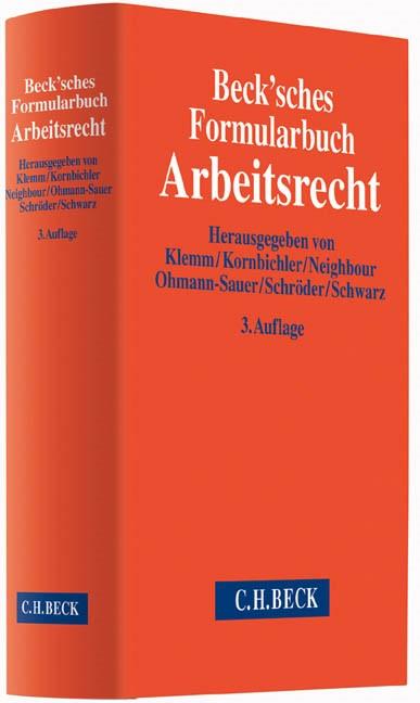 Beck'sches Formularbuch Arbeitsrecht | 3., überarbeitete und erweiterte Auflage, 2014 (Cover)