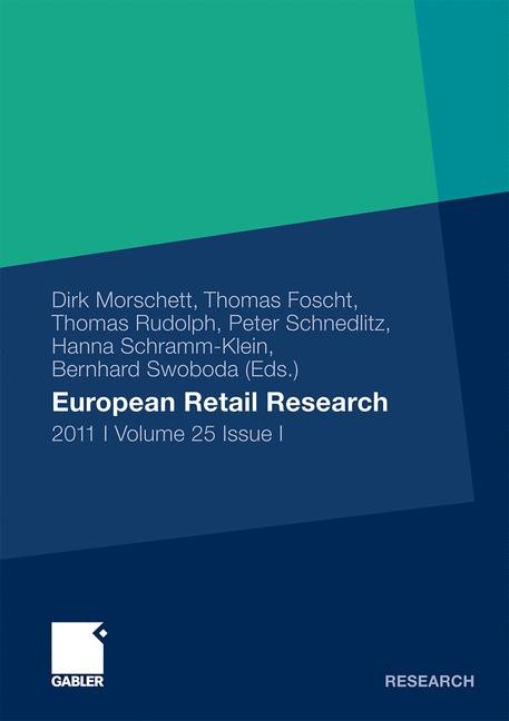European Retail Research | Morschett / Foscht / Rudolph, 2011 | Buch (Cover)