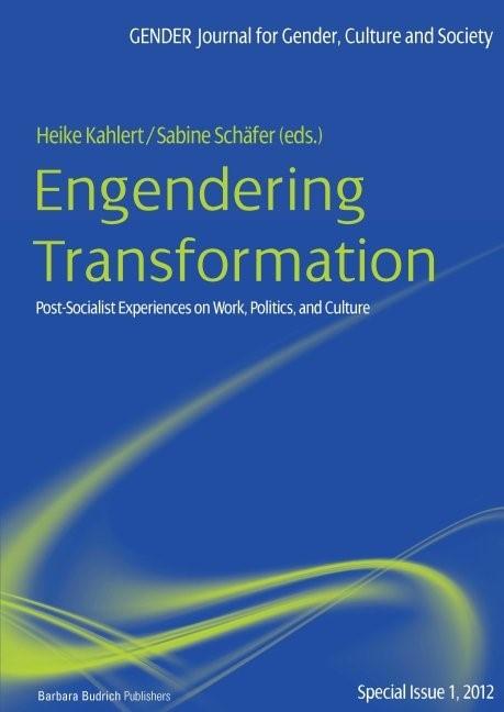 Engendering Transformation | Kahlert / Schäfer, 2011 | Buch (Cover)