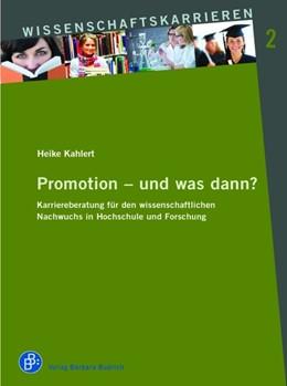Abbildung von Kahlert | Promotion – und was dann? | 2020 | Karriereberatung für den wisse... | 2