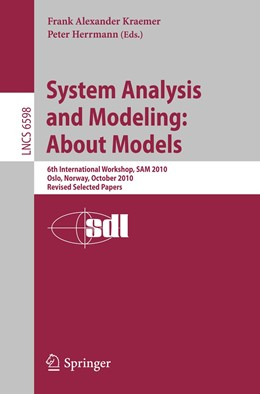 Abbildung von Kraemer / Herrmann | System Analysis and Modeling: About Models | 2011