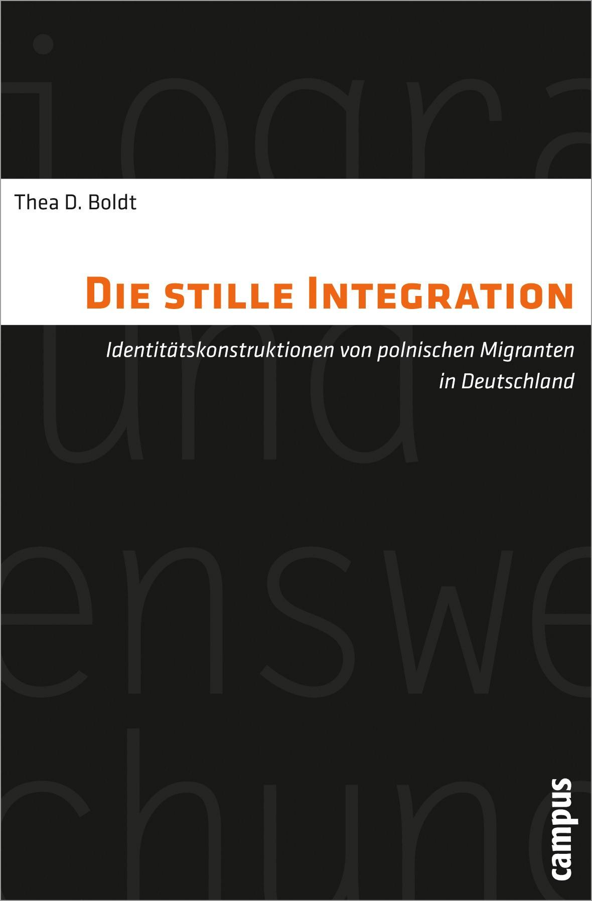 Abbildung von Boldt   Die stille Integration   2012