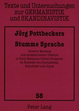 Abbildung von Pottbeckers | Stumme Sprache | 2008 | Innerer Monolog und erzähleris... | 58