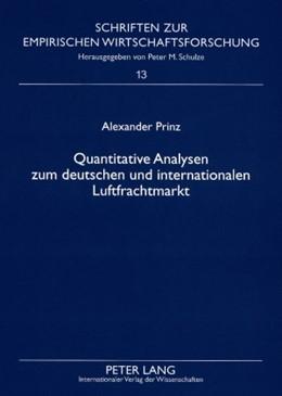 Abbildung von Prinz | Quantitative Analysen zum deutschen und internationalen Luftfrachtmarkt | 2008 | 13