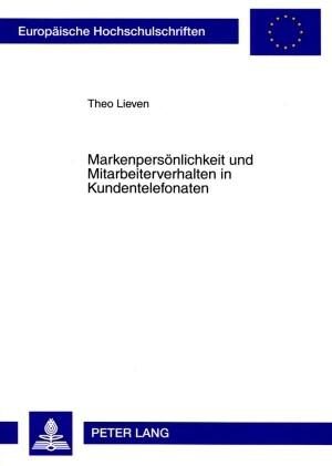 Markenpersönlichkeit und Mitarbeiterverhalten in Kundentelefonaten | Lieven, 2009 | Buch (Cover)