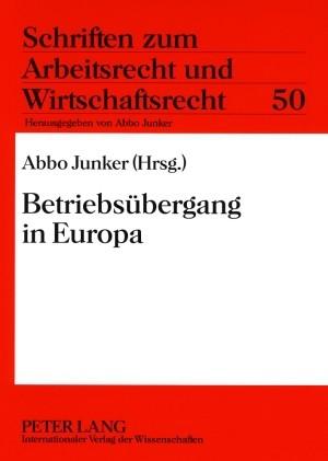 Betriebsübergang in Europa   Junker, 2009   Buch (Cover)