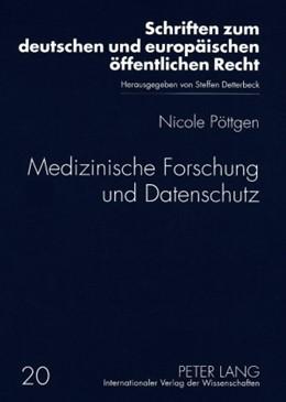 Abbildung von Poettgen | Medizinische Forschung und Datenschutz | 2009 | 20
