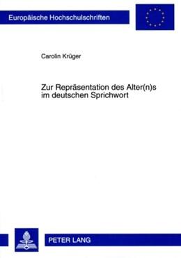 Abbildung von Krüger   Zur Repräsentation des Alter(n)s im deutschen Sprichwort   2009   1986