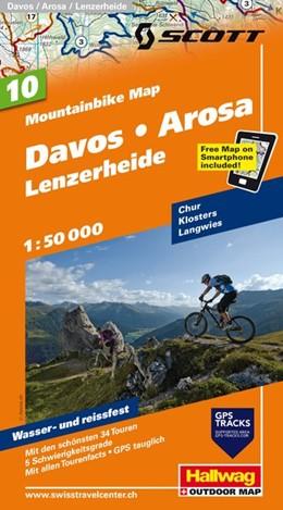 Abbildung von MTB-Karte 10 Davos - Arosa - Lenzerheide 1:50.000 | 2. Auflage, Laufzeit bis 2019 | 2014 | Mountainbike Map