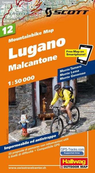 MTB-Karte 12 Lugano, Malcantone 1:50.000 | 1. Auflage, 2011 (Cover)
