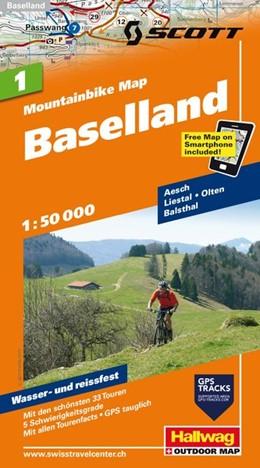 Abbildung von MTB-Karte 01 Baselland 1:50.000 | 2. Auflage | 2011 | Mountainbike Map
