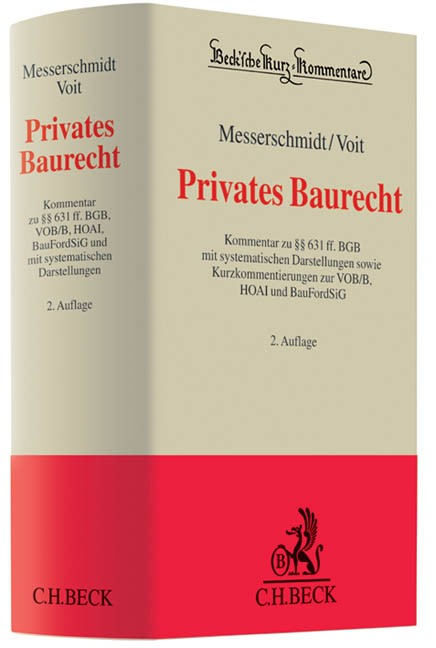 Privates Baurecht | Messerschmidt / Voit | Buch (Cover)