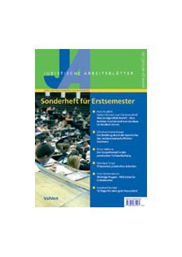 Abbildung von JA Sonderheft für Erstsemester   1. Auflage   2011   beck-shop.de