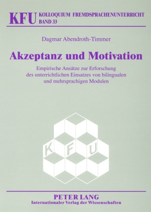 Akzeptanz und Motivation | Abendroth-Timmer, 2007 | Buch (Cover)
