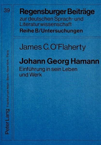 Johann Georg Hamann | O'Flaherty, 1989 | Buch (Cover)