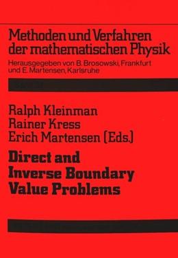 Abbildung von Kleinman / Martensen / Kress | Direct and Inverse Boundary Value Problems | 1991